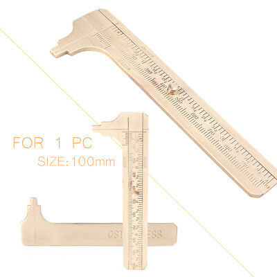 4inch/100mm Brass CALIPER Sliding Vernier Ruler Gauge Gem Tool Bead Measuring