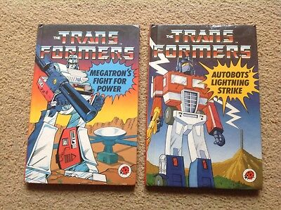 Set of Two Transformers Ladybird Books Classic Vintage Cult TV 1986 Collectable