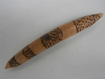 aboriginal - Carved Pyrography Stick - 200mm long