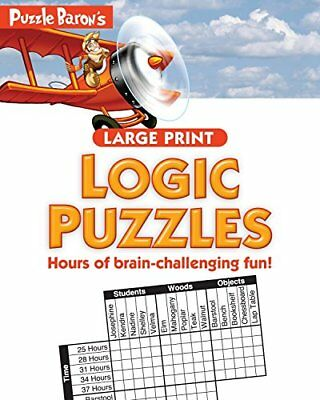 Puzzle Baron's Large Print Logic Puzzles by Baron   Puzzle Book The Cheap Fast