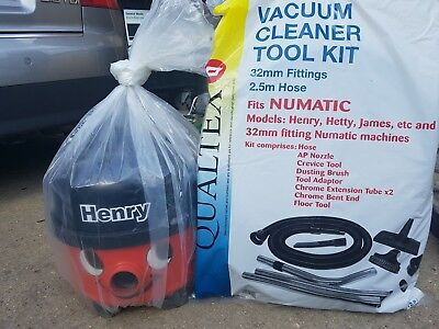 Single Speed Henry Numatic Vacuum Cleaner 1200W NEW Accessory Kit