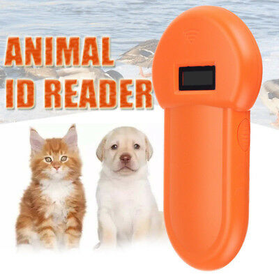 Portable RFID 134.2Khz Animal Pet Microchip Recognition Reader Ear Tag Scanner