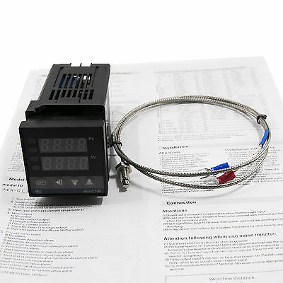 AC 100-240V Digital PID Temperature controller SSR output+K thermocouple Sensor