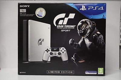 New Gran Turismo Sport Limited Edition PS4 PlayStation 4 1TB Console Silver Slim