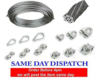 Wire Rope Cable Clamp Simplex Duplex Thimble Marine Grade 316 Stainless Steel