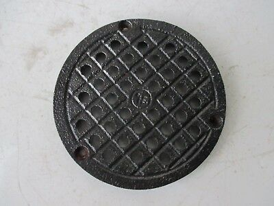 ANTIQUE CAST IRON FLOOR / WALL OLD PIPE FLUE COVER THICK GRATE VENTILATOR 8 cm