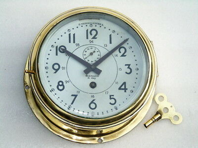 Vintage Bayard Duverdrey & Bloquel France Ships Marine Mechanical Winding Clock