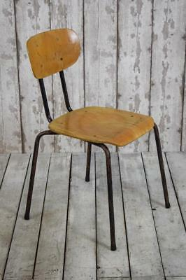 Vintage Mid Century Industrial Stacking Cafe Bar Kitchen Chairs 50 AVAILABLE