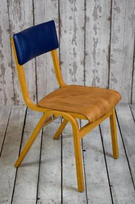 Vintage Mid Century School Stacking Cafe Bar Kitchen Chairs