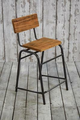 Vintage Mid Century Industrial Stacking Cafe Bar Kitchen Dining Stools