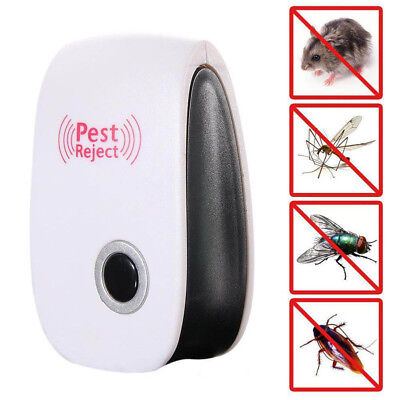 Ultrasonic Electronic Anti Mosquito Pest Bug Insect Cockroach Repeller Reject HB