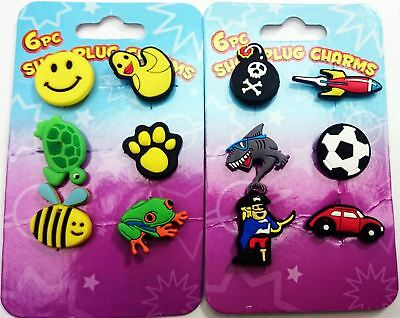 6 Piece Crocs Shoe Plug Charms Slippers Accessories Button Wristbands