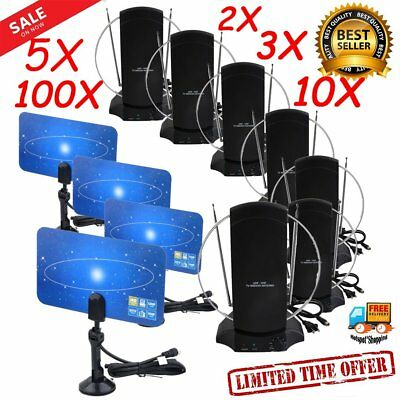 TV Antennas Flat Hd Digital Indoor Vhf/Uhf High Gain 50M Dtv Hdtv Antena Lot SA