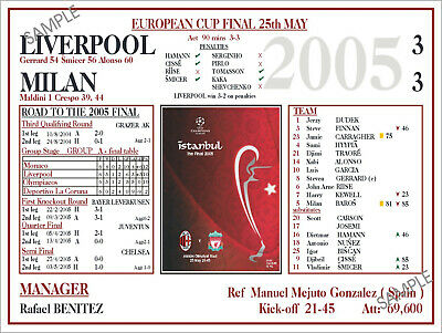 Liverpool Football Programmes Memorabilia Sign 2005 Champions League Final Ynwa