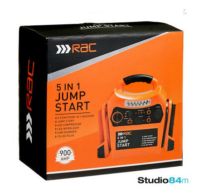 RAC 5 in 1 Jump Start Air Compressor USB Charger Power Station Jump Starter