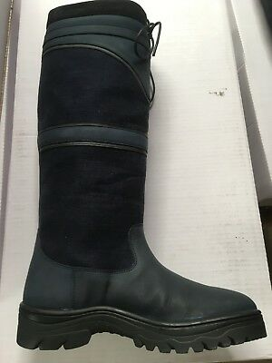 Rhinegold Long Riding Country Boots Size 39 Navy