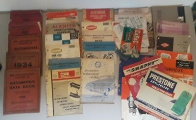 mixed lot of vintage manuals guides catalogs automobile auto 50's and earlier