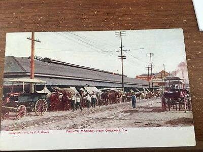Postcard LA New Orleans French Market Interior Vintage Louisiana PC