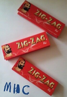 3 Books! ZIG-ZAG Red 1.0 Cigarette Rolling Papers! 50 leaves per book!
