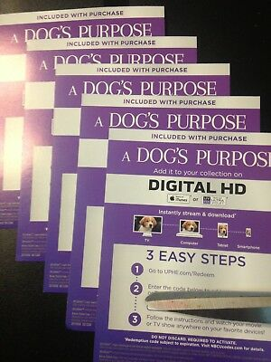 A Dog's Purpose (HD Digital Code Only) Canada redemption only!