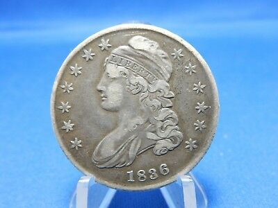 1836 Capped Bust Silver Half Dollar Coin - Very Fine