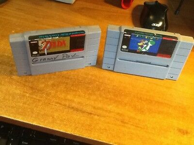 SNES Lot: The Legend of Zelda: A Link to the Past + Super Mario World *TESTED*