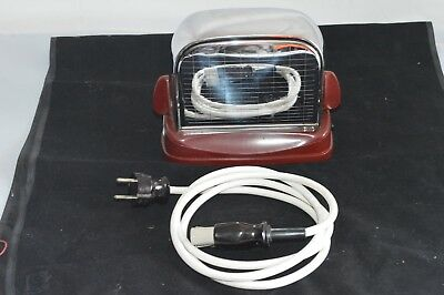 Grossag Toaster - Chrom Bakelit rot - Mod. 446 - made in Germany Vintage/i4
