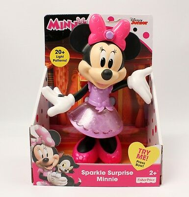 Disney Minnie Mouse Sparkle Surprise Minnie 20 Light Patterns New in Box