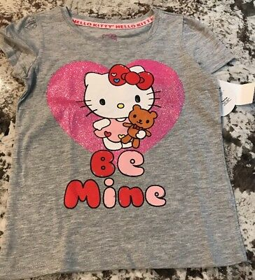 HELLO KITTY LITTLE Girls Toddler Happy Birthday T Shirt NWT Size 4T