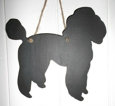 POODLE chalkboard kennel sign birthday Christmas pet puppy toy dog pet