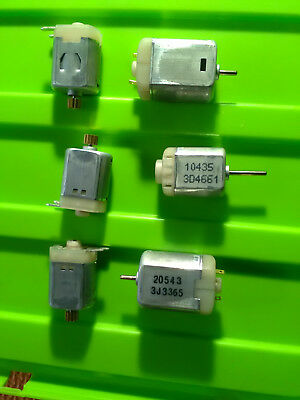 6pcs small electric motor 6V 12V with gear