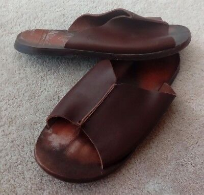8e16ac38a327 LACOSTE MENS LEATHER Sandals   Sliders Uk Size 7  40.5 brown - EUR 9 ...