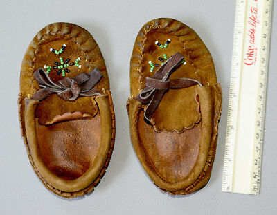 One pair of Indian Baby Moccasins - 90+ years old
