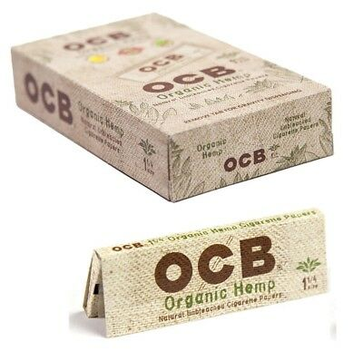 OCB Organic 1 1/4 1.25 - 24 PACKS - Unbleached 50 Papers Pack Rolling Roll