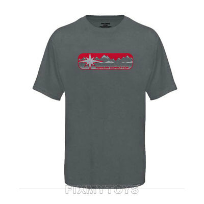 Polaris Youth Gray Red Terrain Domination T-Shirt