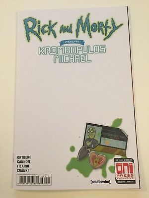 Rick & Morty Krombopulos Michael 1 Blank Sketch Cover Variant SDCC Oni Press