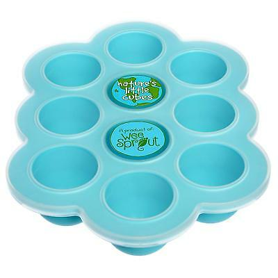 Silicone Baby Food Freezer Tray with Clip-on Lid - WeeSprout - Perfect Storage