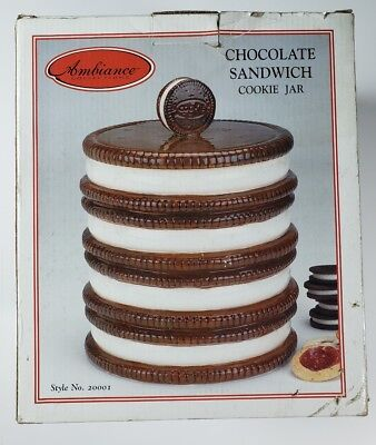 Ambiance Collections Chocolate Sandwich Cookie Jar