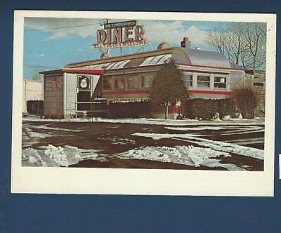 CLARKSVILLE DINER, NJ.  from oil painting by John Baeder 1978