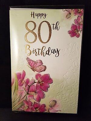 Large Quality Female 70th Birthday Greeting Card Lovely Colours And