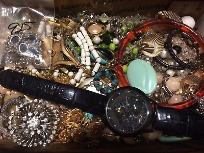 Huge Vintage To Now Estate Find Jewelry Lot Junk Drawer Unsearched Untested 32
