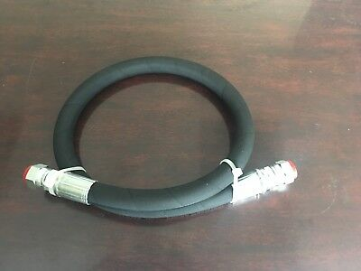 "1/2"" x 18"" 2-Wire 5,000 PSI Hydraulic Hose Assembly with 2-Female JIC Swivels"