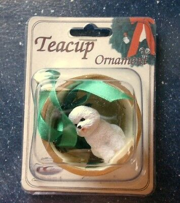 Conversation Concepts Teacup Ornament BICHON FRISE DOG New, Unopened Package