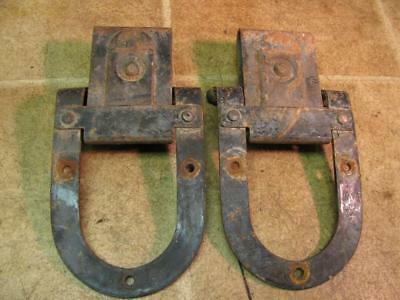 Vintage National Barn Door Rollers Horseshoe Shape Black Paint