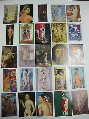 Postcard Lot of 80 Museum Art Women Femme Vintage Souvenir Worldwide Post Cards