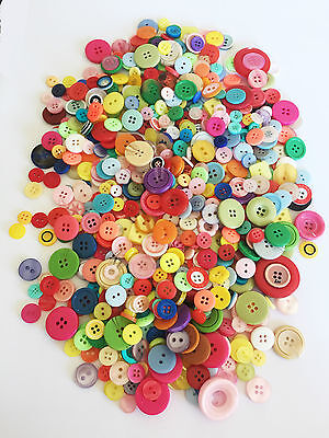 100 Muti Coloured Ridged Mixed Button In Multiple Sizes Craft Scrapbooking