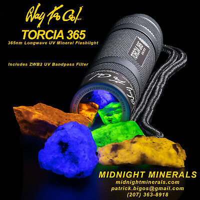 Way Too Cool TORCIA 365nm LW UV Nichia LED Mineral Flashlight-ONLY (Convoy s2+)