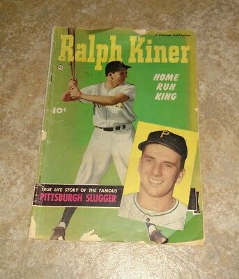 1950 Ralph Kiner HOME RUN KING COMIC BOOK by FAWCETT