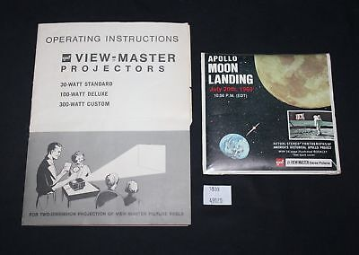ThriftCHI ~ Apollo Moon Landing View Master Stereo Pictures & Instruction Manual