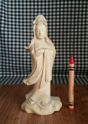 Asian Goddess of Compassion Wood Statue, Kwan Yin, Guan Yin, Quan Yin Buddhist